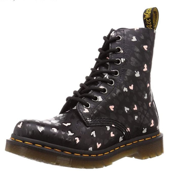 DR.MARTENS 1460 Pascal Women | Black Multi Custom Chaos Heart