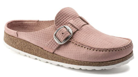 BIRKENSTOCK Buckley Nubuck Leather Narrow Women | Soft Pink (1019701)