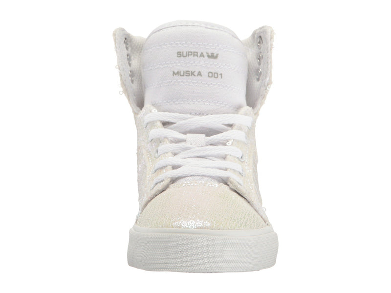SUPRA Skytop Youth/Kids | White Sequin (58002-161-M)