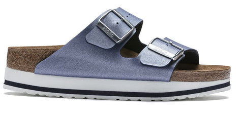 BIRKENSTOCK Arizona Platform Women | Icy Metallic Azure Blue