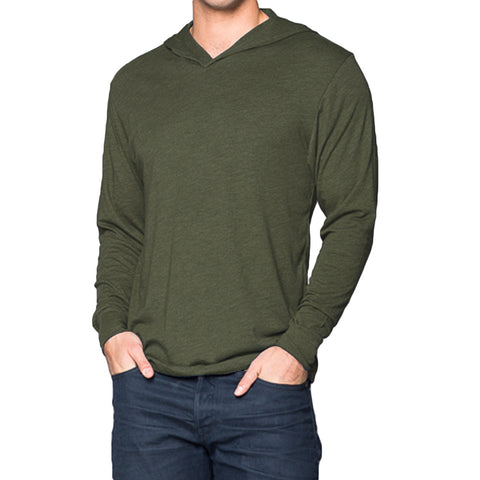 THREAD SOCIETY Triblend Hoodie Men | Military