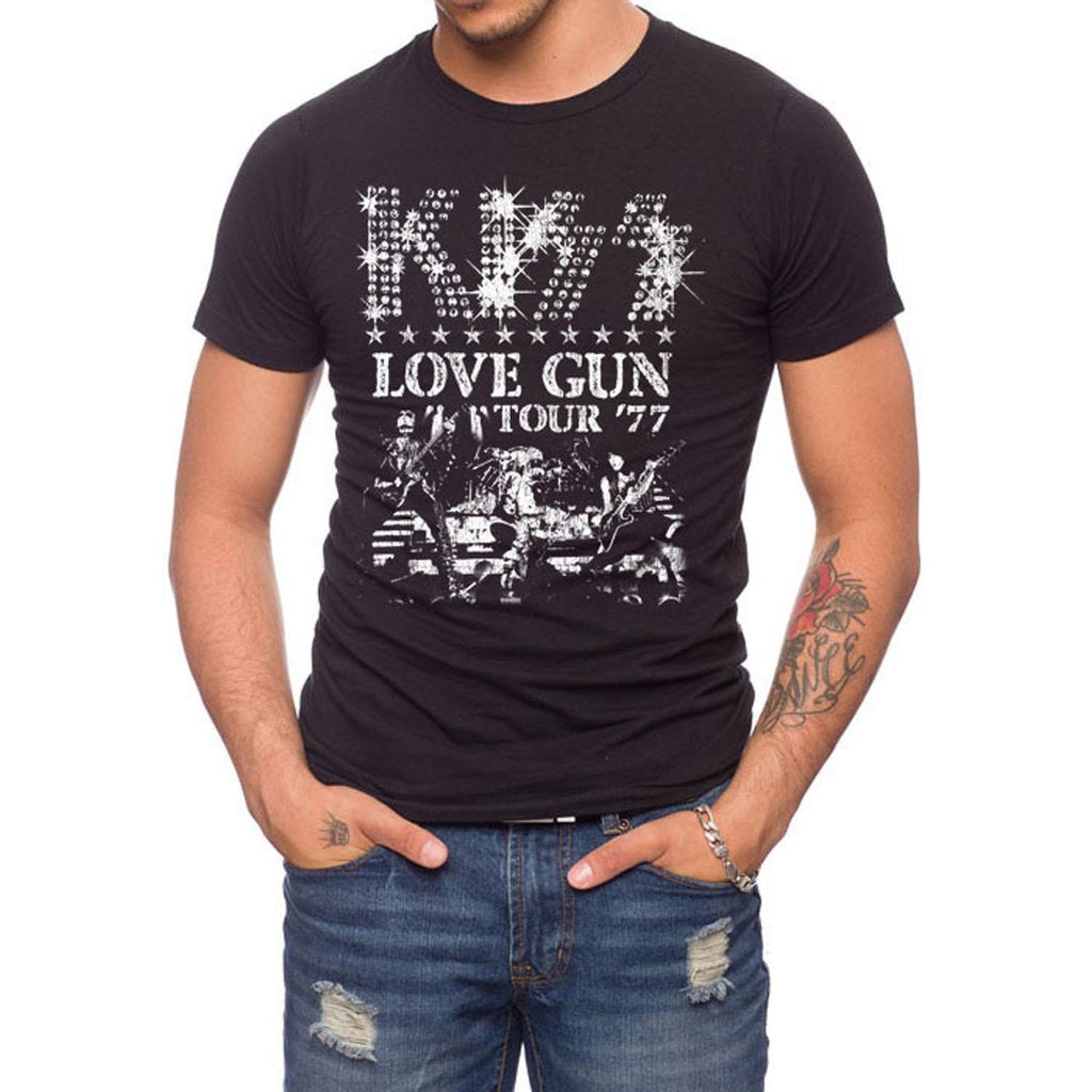 JACK OF ALL TRADES KISS Love Gun Rocker T-Shirt Men | Onyx (KS0008-T1079DDC)