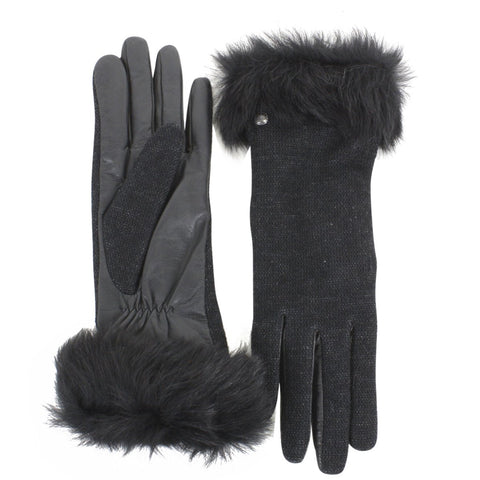 UGG Smart Fabric Gloves w/ Toscana Trim Women | Black (15132)