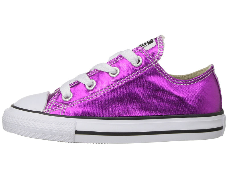 CONVERSE Chuck Taylor Ox Toddler | Magenta Glow / Black / White (755561F)