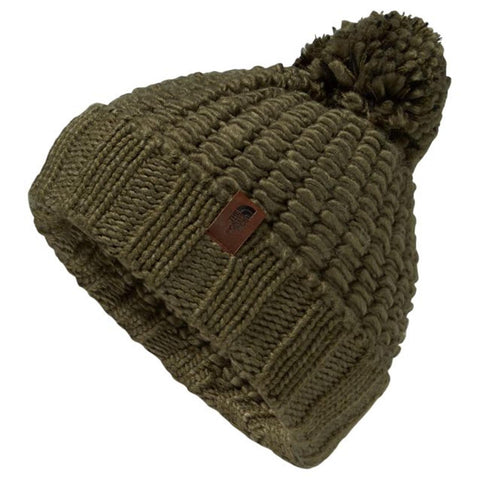 THE NORTH FACE Cozy Chunky Beanie | Burnt Olive Green / TNF Black (NF0A354A)