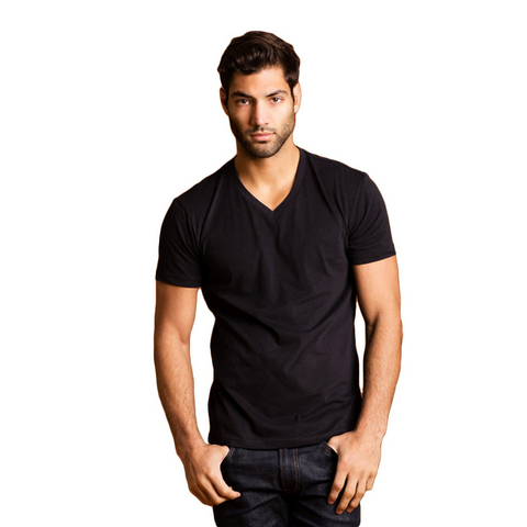 THREAD SOCIETY Comfy V Neck T-Shirt Men | Black