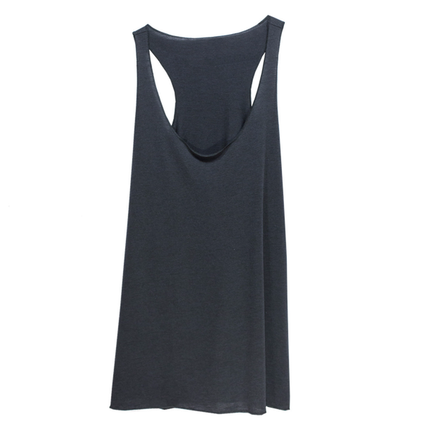 THREAD SOCIETY Comfy Racerback Tank Top Women | Charcoal