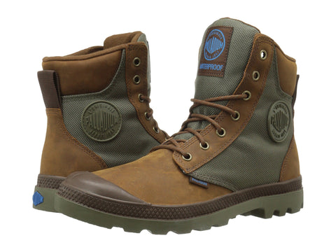 PALLADIUM Pampa Sport Cuff WPN Unisex | Brindle Brown/Moon Mist (73234-207-M)