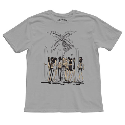 CAPTAIN FIN Howell Beach Party Premium T-Shirt Men | Light Grey (CT171068)