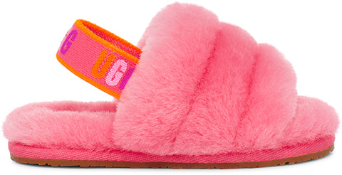 UGG Fluff Yeah Slide Toddler | Strawberry Sorbet Multi (1117462T)