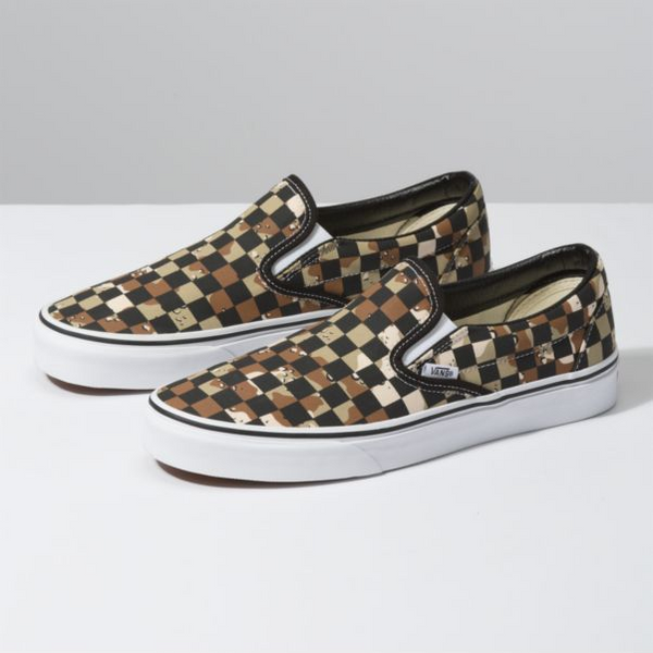 VANS Checkerboard Men | Camo Desert/ True White (VN0A4BV3V4P)