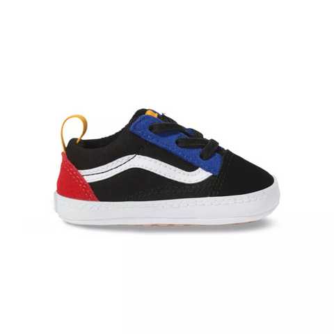 VANS Old Skool Color Block Infant | Black/True White (VN0A4P3TVIG)