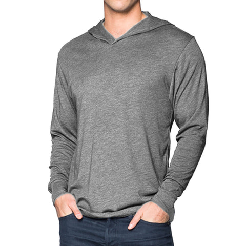 THREAD SOCIETY Triblend Hoodie Men | Heather Grey