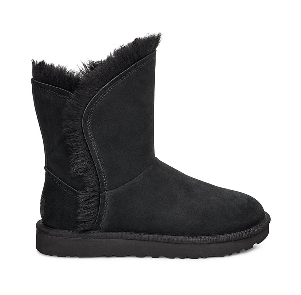 UGG Classic Short Fluff High-Low Women | Black (1103746-BLK)