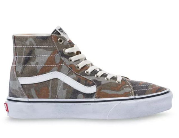 VANS Washed SK8-Hi Tapered Unisex | Camo/True White (VN0A4U1619W)