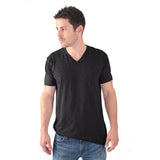 THREAD SOCIETY Basic V Neck T-Shirt Men | Black