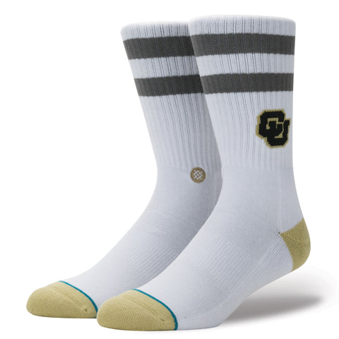 STANCE Colorado Buffaloes Logo Socks Men | White