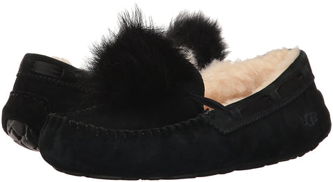 UGG Dakota Pom Pom Slipper Women | Black (1019015)