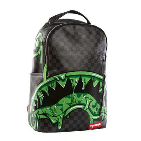 SPRAYGROUND Slime Shark Backpack | Black / Green (910B1361NSZ)