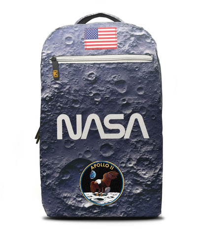 de.Kryptic NASA Moon Landing Augmented Reality Backpack Men | Blue (017)