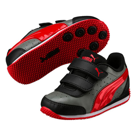 PUMA Speed Light Up Power V Infant | Castor Grey / Flame Scarlet (362696-09)