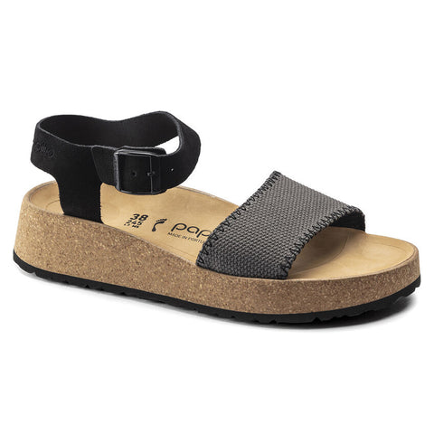 BIRKENSTOCK Glenda Suede Leather Narrow Women | Anthracite (1019552)