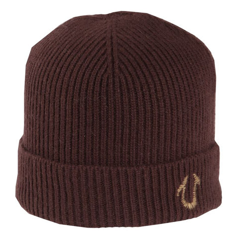 TRUE RELIGION Solid Knit Watchcap | Brown (TR1429)