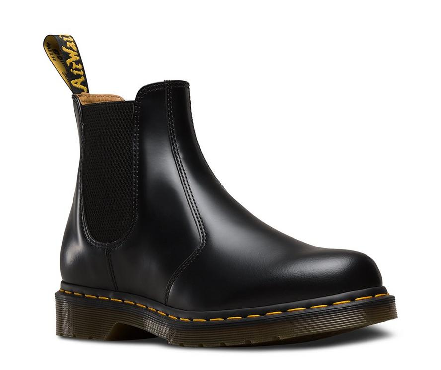 DR.MARTENS 2976 Yellow Stitch Unisex | Black Smooth (22227001)