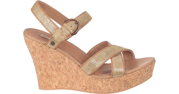 UGG Jazmine Metallic Women | Chestnut / Gold Coast (1008355)