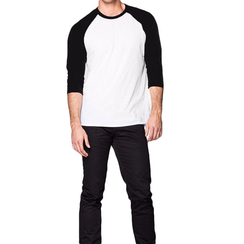 THREAD SOCIETY Long Sleeve Baseball Tee Men | Black