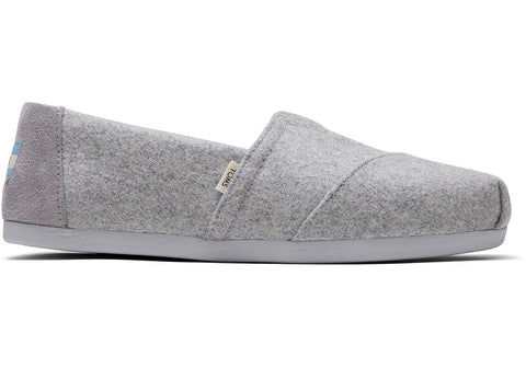 TOMS Felt Faux Shearling Women | Grey (10014376)