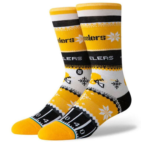 STANCE Steelers Holiday Sweater Men | Yellow (M545D19STE)