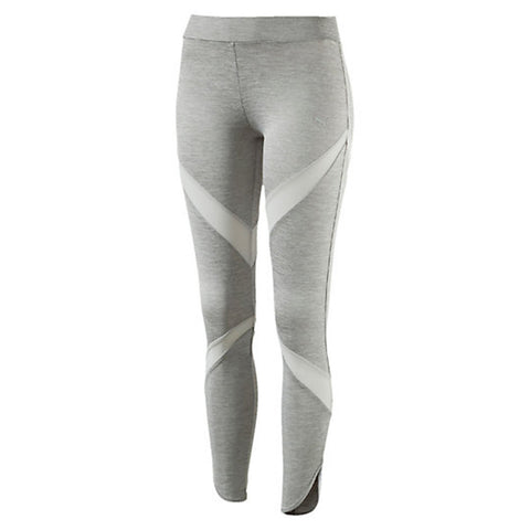 PUMA Evo Mesh Insert Legging Women | Light Grey Heather (572534-04)