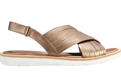 TIMBERLAND Adley Shore Cross Band Sandal Women | Gold (TB0A1VNAH56)