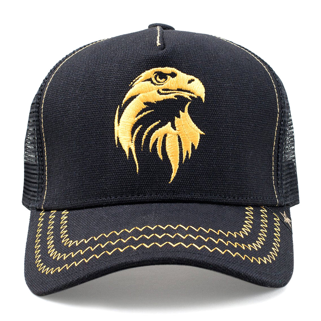 GOLD STAR Agila Trucker Hat | Black