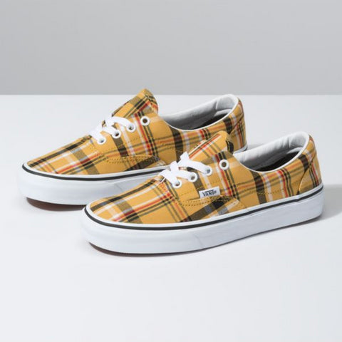 VANS Plaid Era Women | Yellow/True White (VN0A4BV4VXX)