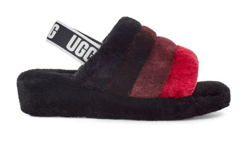 UGG Fluff Yeah Slide Women | Black Multi (1116330)