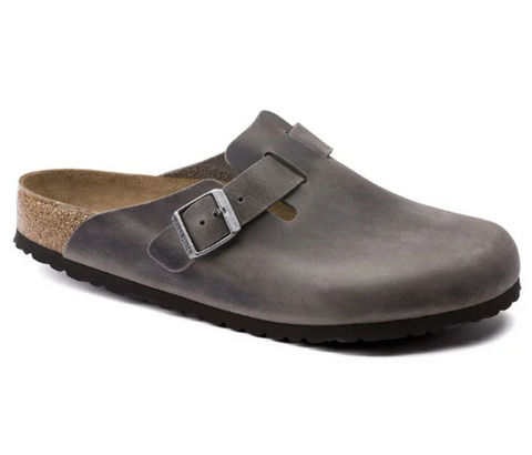 BIRKENSTOCK Boston Soft Footbed Men | Iron Oiled Leather (1013255)