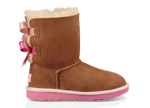 UGG Bailey Bow II Toddler | Chestnut/Pink Azalea (1017394T)