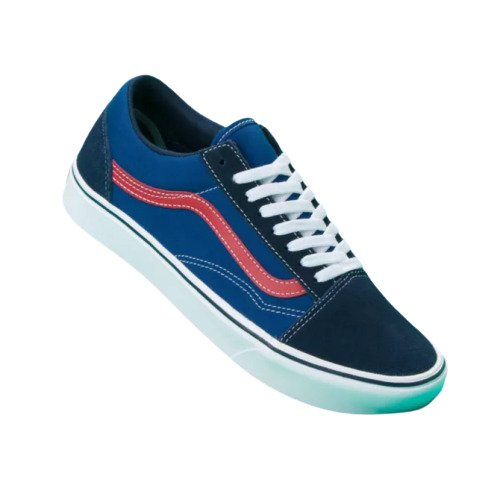 VANS TriTone ComfyCush Old Skool Unisex | Dress Blue/Blue/Red (VN0A3WMA1RP)