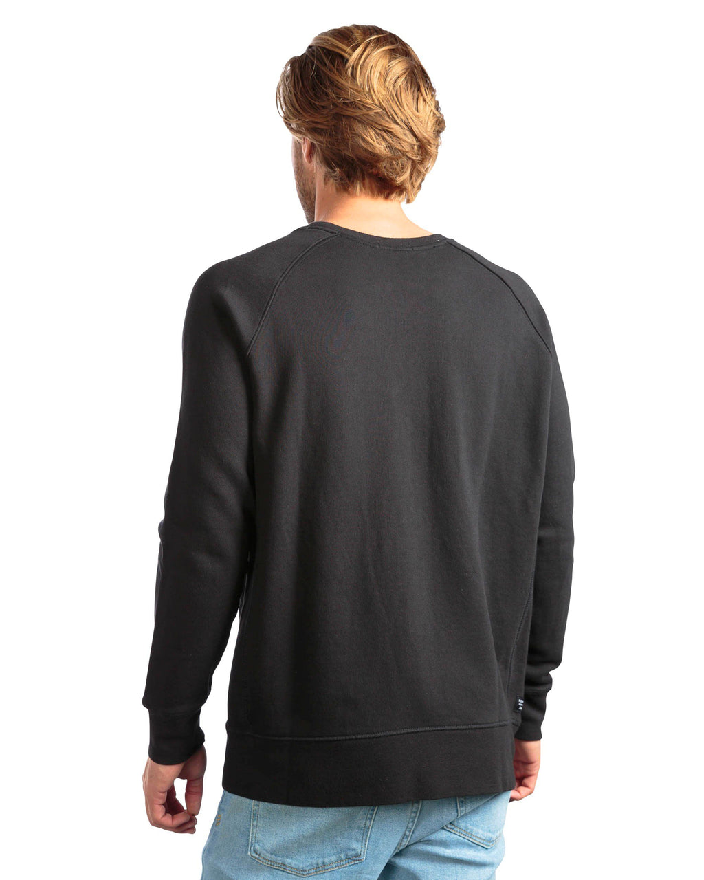 RICHER POORER Crew Sweatshirt Men | Black (MAT-SSCR01) (XL)