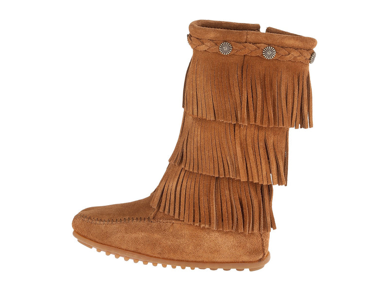 MINNETONKA 3-Layer Fringe Boot Kids/Toddler | Dusty Brown (2658)