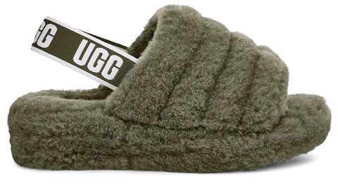 UGG Fluff Yeah Slide Women| Burnt Olive (1095119)