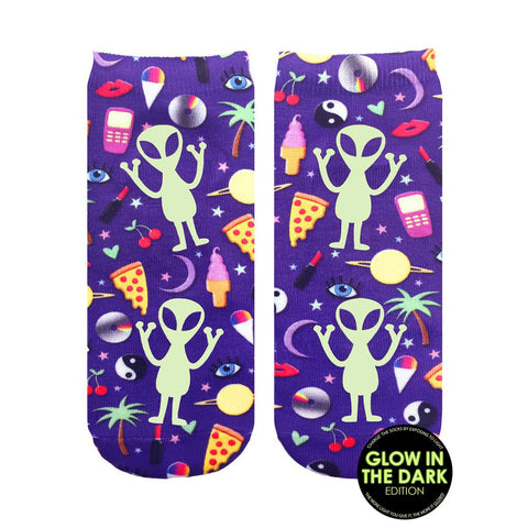 LIVING ROYAL Outerspace Ankle Socks | Purple