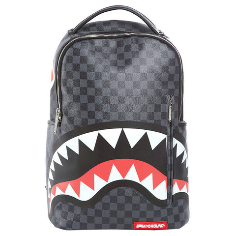 SPRAYGROUND Sharks In Paris Backpack | Grey Checkered (910B1374NSZ)