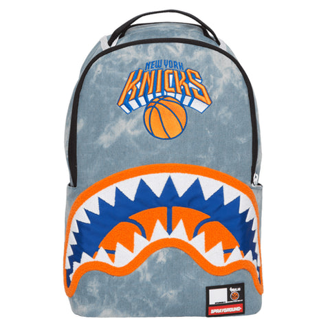 SPRAYGROUND NBA Lab Knicks Denim Shark Backpack | Blue (9100B907NSZ)
