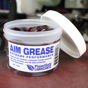 PlanetSafe AIM Grease 8oz Tub -Extreme Performance Industrial Grease- Worlds Best Grease- Eco-Friendly -Tapping Grease- Best Chain Grease -ball bearing lube