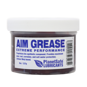 PlanetSafe AIM Grease 8oz Tub - Extreme Performance Industrial Grease - Worlds Best Grease - Eco-Friendly - safe - tapping grease