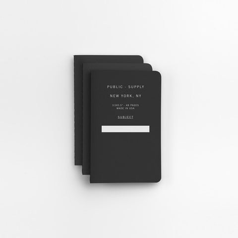 "3.5"" x 5.5"" 3pk Ruled Notebooks"