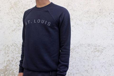 St. Louis Sweatshirt Black on Black